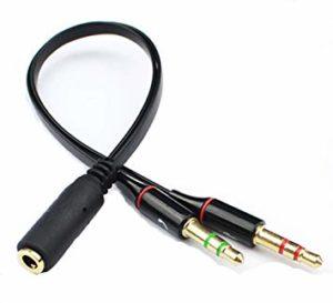 adaptador de audio para auricular y micrófono minijack 3.5