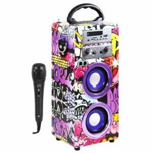altavoz portatil con microfono inalambrico