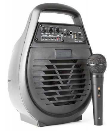 altavoz con micrófono inalámbrico