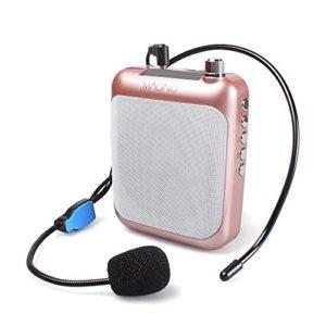 micrófono portátil rosado