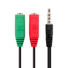 adaptador de audio omtp para auricular y micrófono minijack 3.5mm