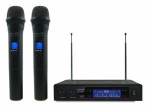 micrófono inalámbrico de diadema