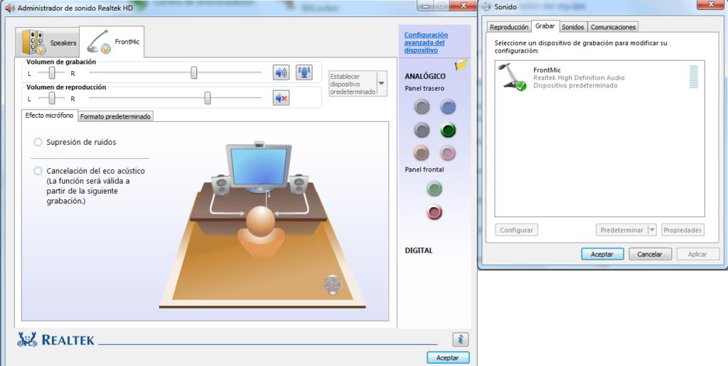 configurar micrófono windows 7