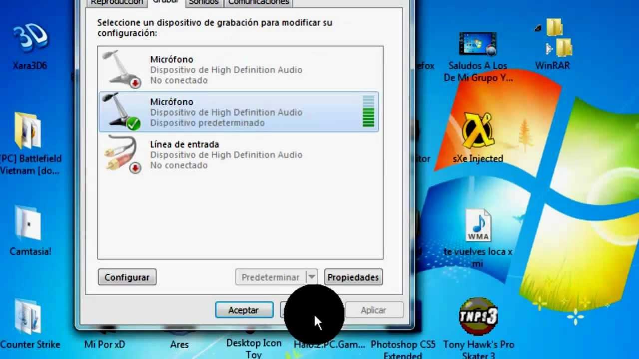 configurar micrófono skype