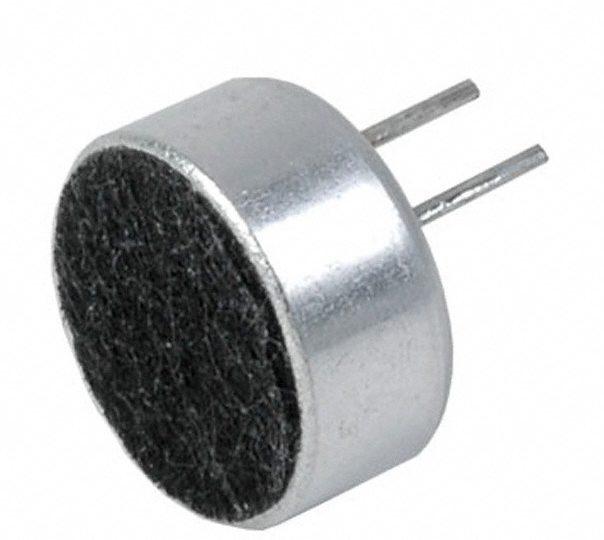 micrófono electret polaridad