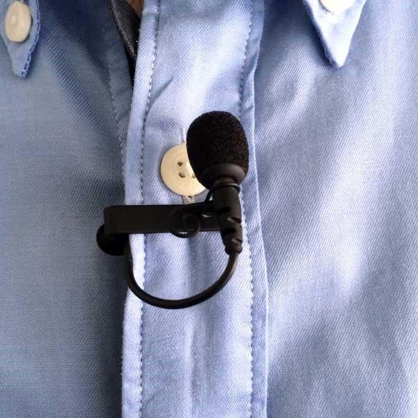 microfono de corbata en inglés