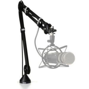 pie de micrófono en inglés