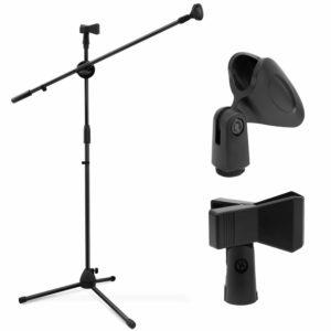 pie de microfono recto